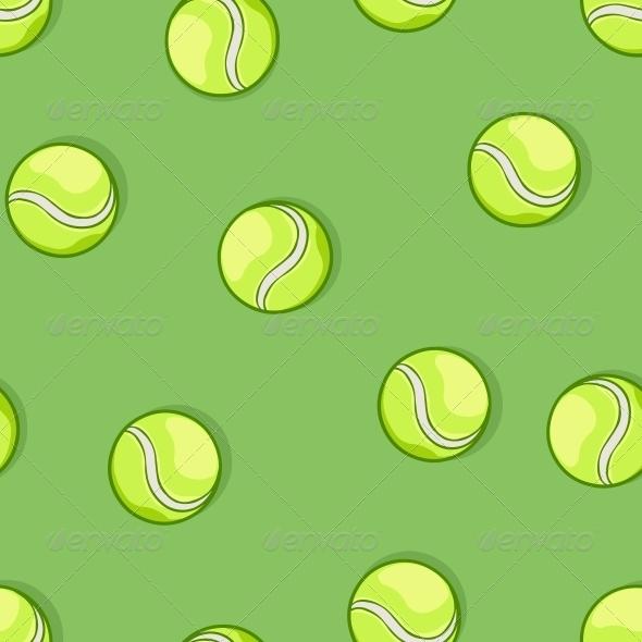 Seamless Pattern of Tennis Balls - Sports/Activity Conceptual