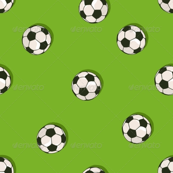 Seamless Pattern of Soccer Balls - Sports/Activity Conceptual