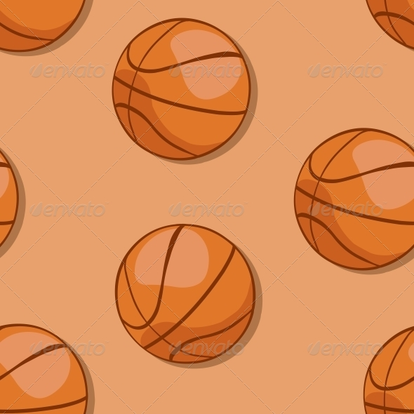 Seamless Pattern of Basketballs - Sports/Activity Conceptual