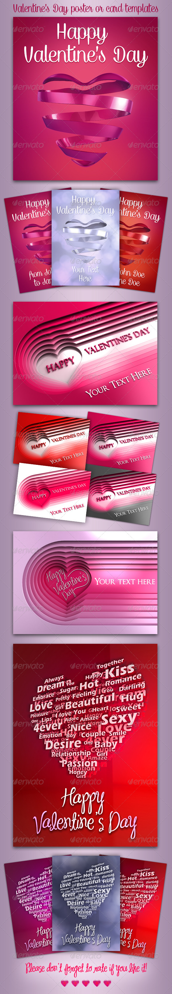 Valentine's Day Templates - Holiday Greeting Cards