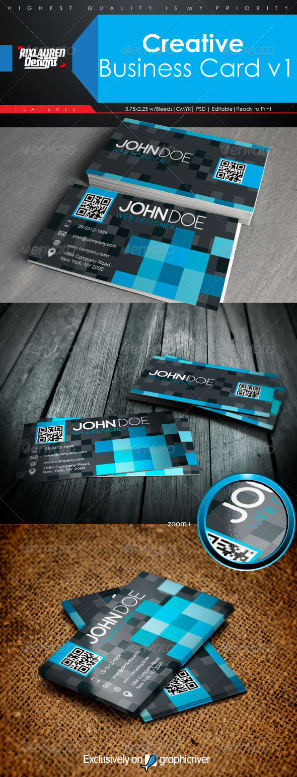 Creative Business Card V1 - Creative Business Cards