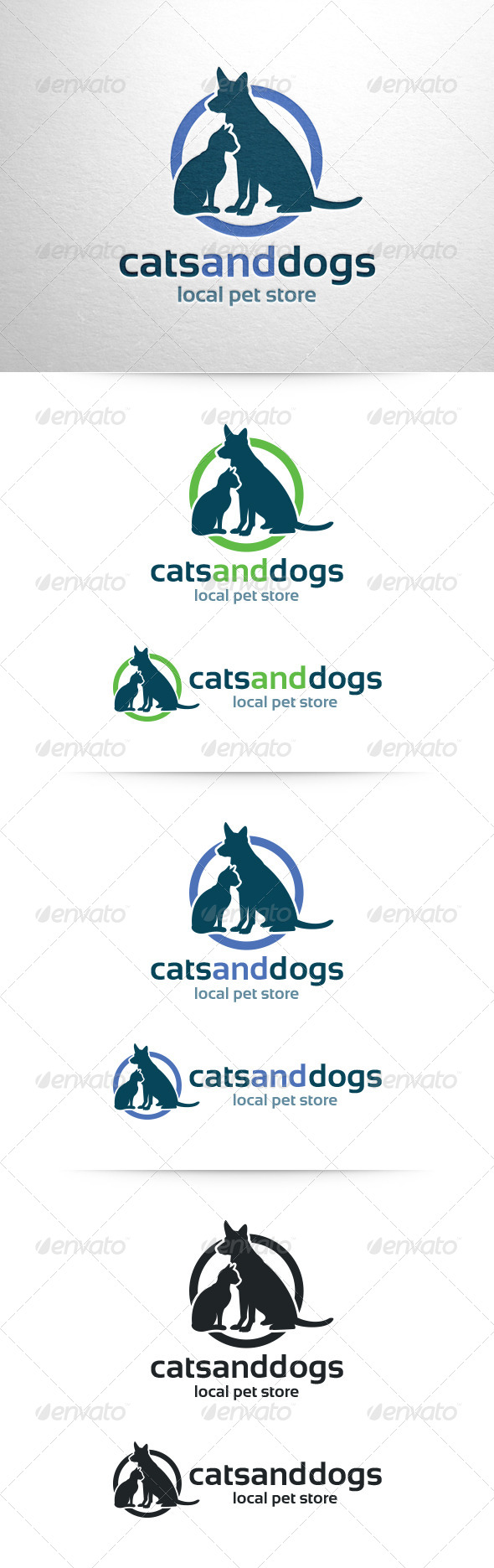 Cats and Dogs Logo Template - Animals Logo Templates
