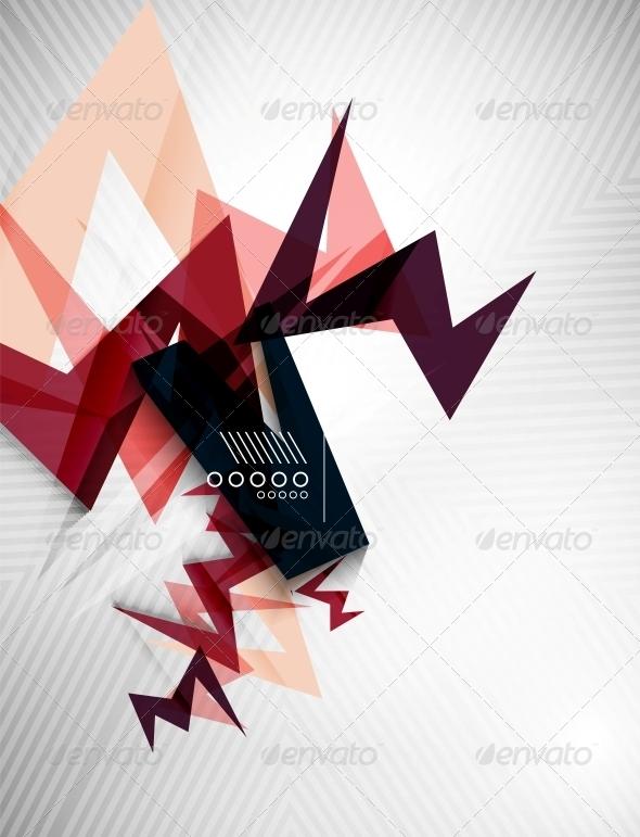 Geometric Lightning Business Background - Backgrounds Decorative
