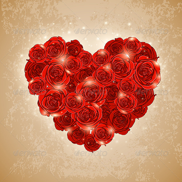 Heart of Rose for Valentine's Day - Valentines Seasons/Holidays