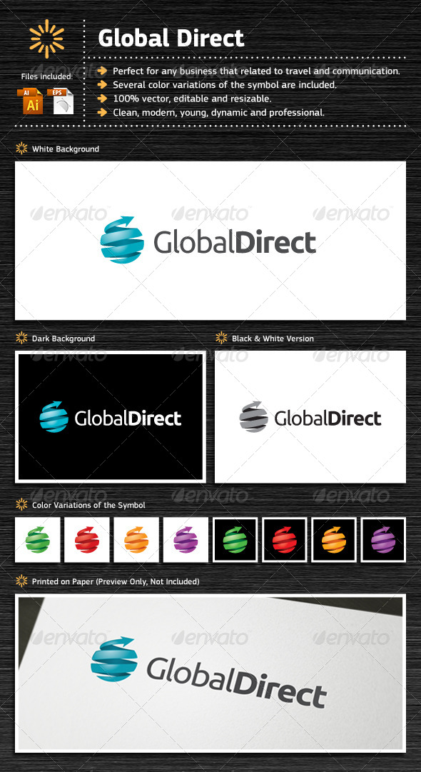 Global Direct - Objects Logo Templates