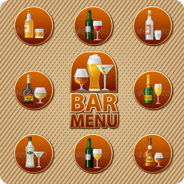 Bar Menu Cover - Vectors