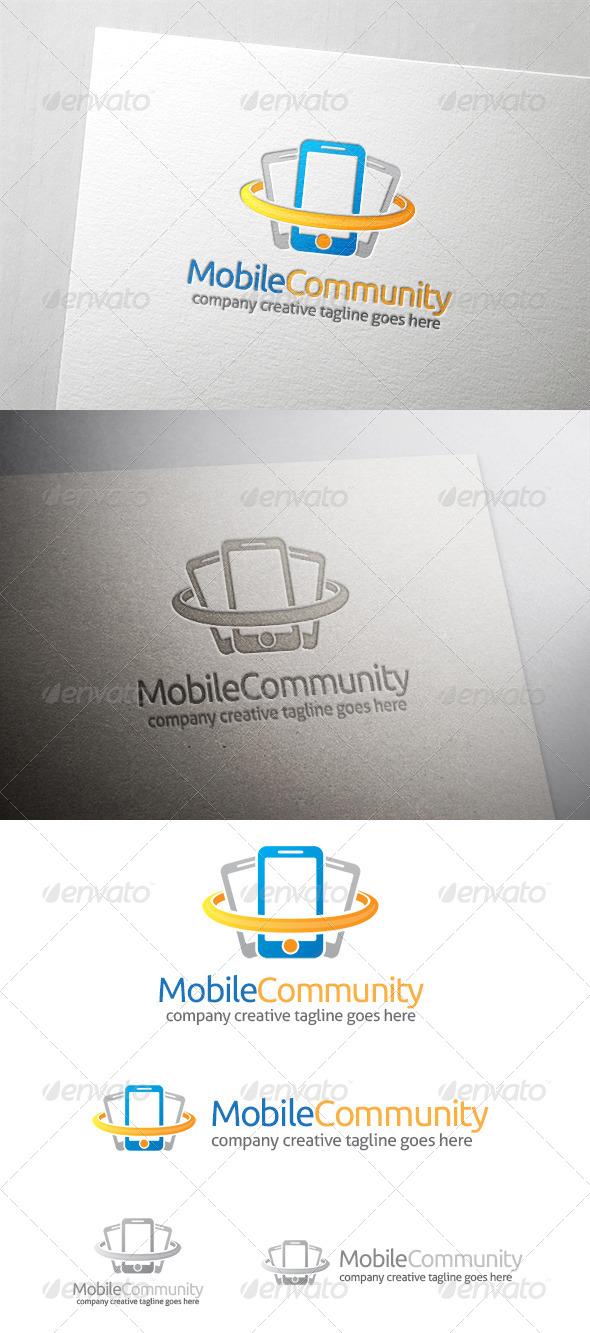 Mobile Community Logo - Objects Logo Templates