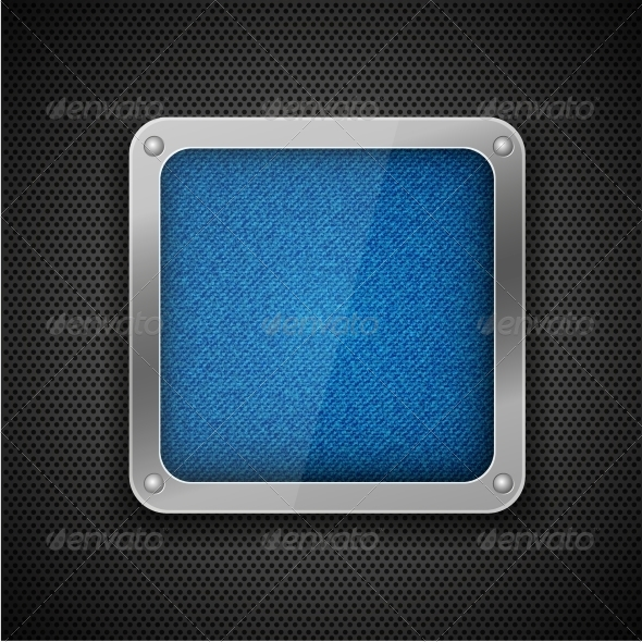 Jeans on Metal Abstract Background - Miscellaneous Vectors