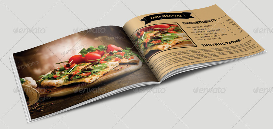 Cookbook Template by pmvch | GraphicRiver