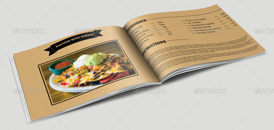 Cookbook Template By Pmvch  Graphicriver