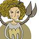 Scorpio Cartoon Girl - GraphicRiver Item for Sale