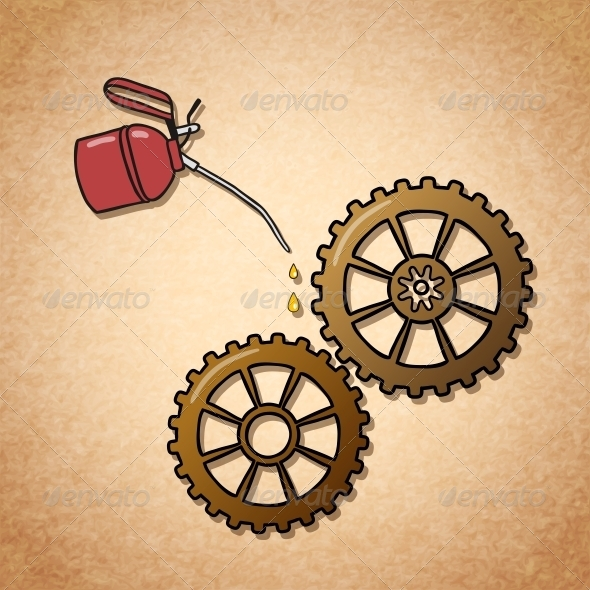 Smoothly Spinning Gears Symbol - Concepts Business