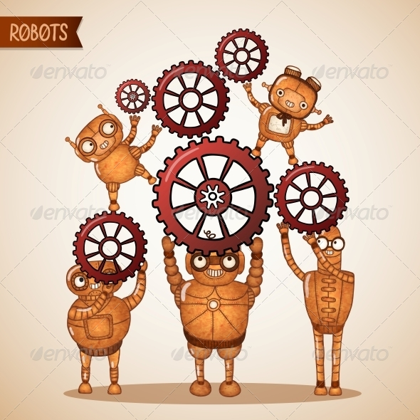 Teamwork Concept with Cogs and Gears - Concepts Business