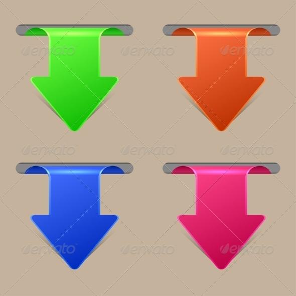 Arrow Stickers Set - Web Technology