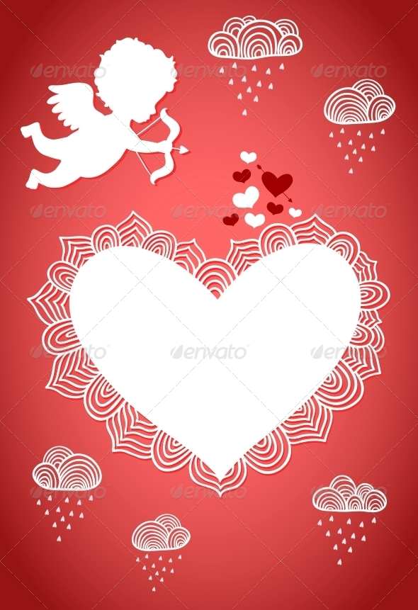 Cupid Valentine Poster or Postcard - Valentines Seasons/Holidays