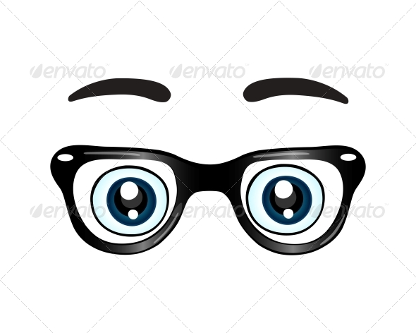 Glasses with Eyes Icon - Decorative Symbols Decorative
