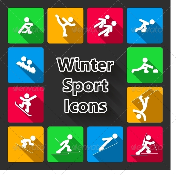 Winter Sports Iconset - Web Elements Vectors