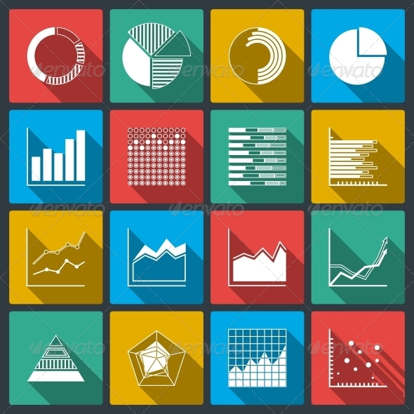 Business Icons of Ratings Graphs and Charts - Web Technology