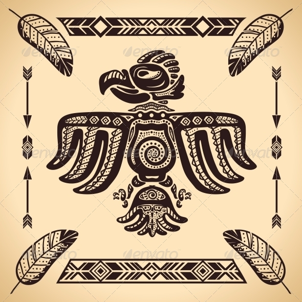 Tribal American Eagle Sign - Decorative Symbols Decorative