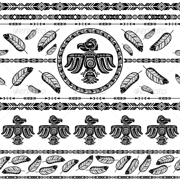 Indian Tribal Pattern Background - Backgrounds Decorative