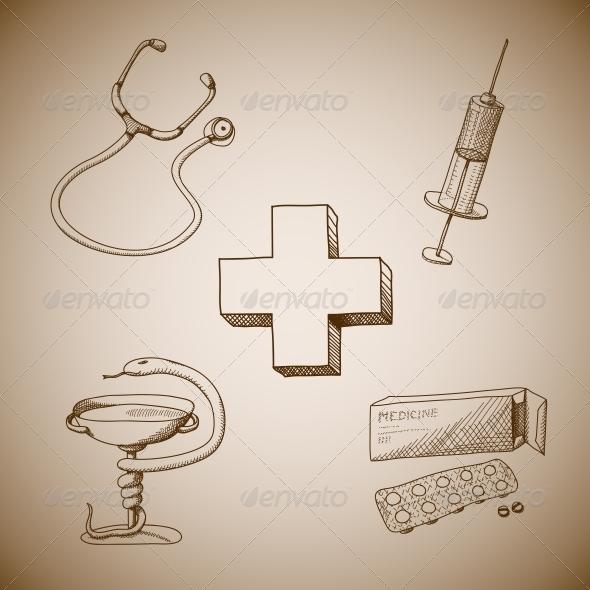 Collection of Medical Symbols - Health/Medicine Conceptual