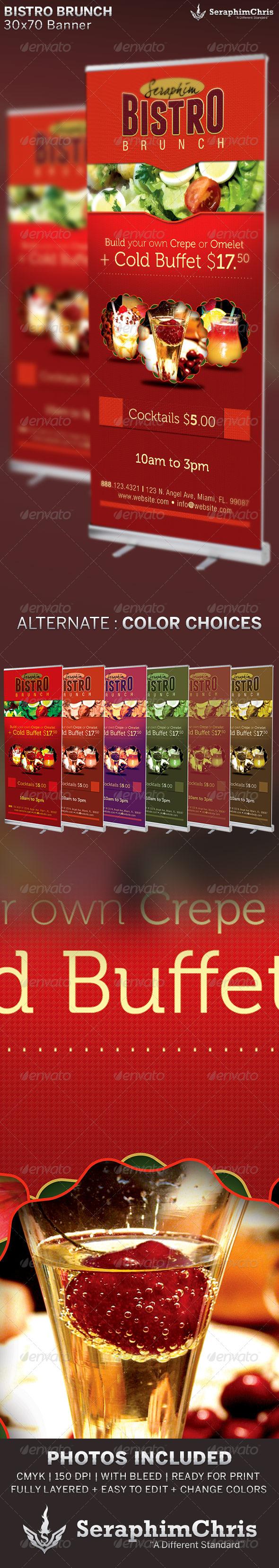 Bistro Brunch: Restaurant Banner Template - Signage Print Templates