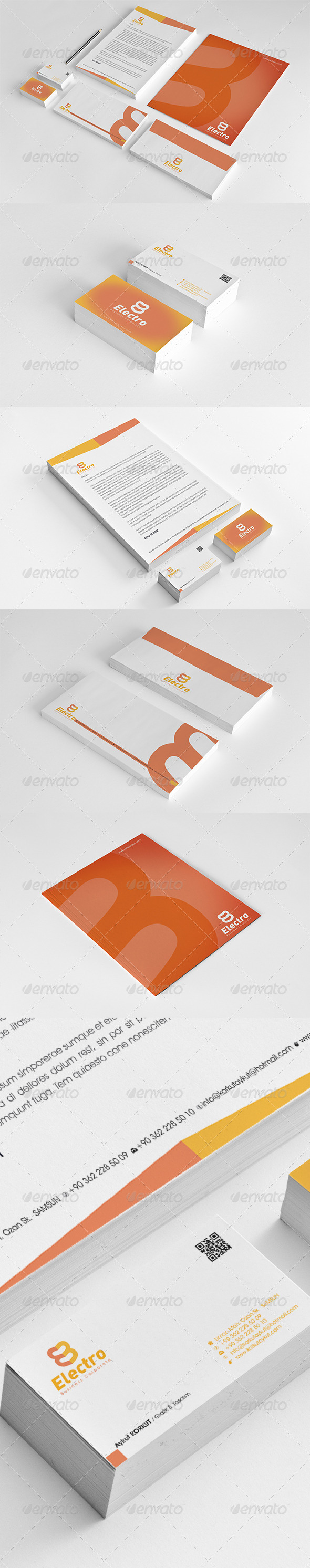Electro Corporate Identity Package  - Stationery Print Templates