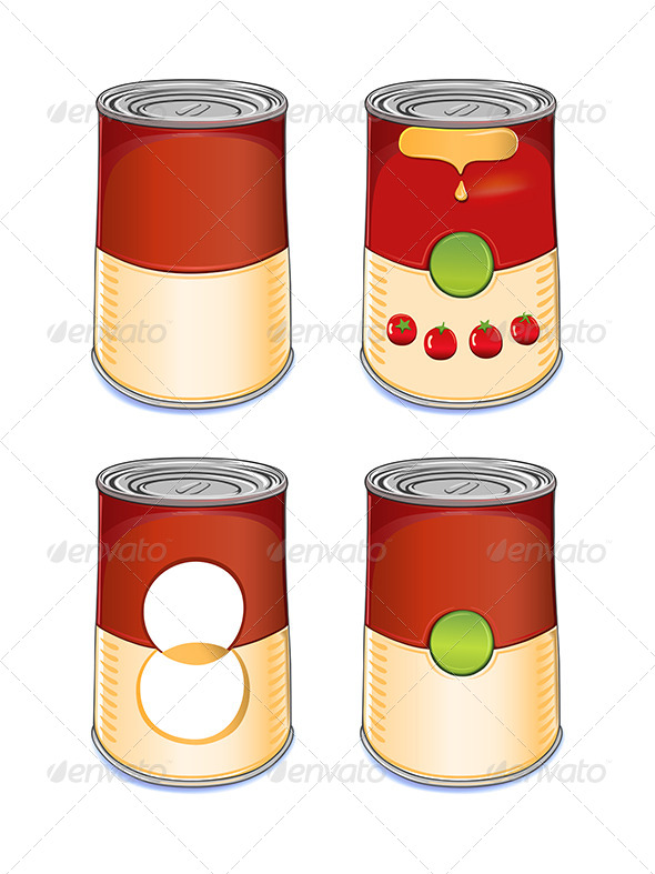 Template Tin Can Tomato Soup - Man-made Objects Objects