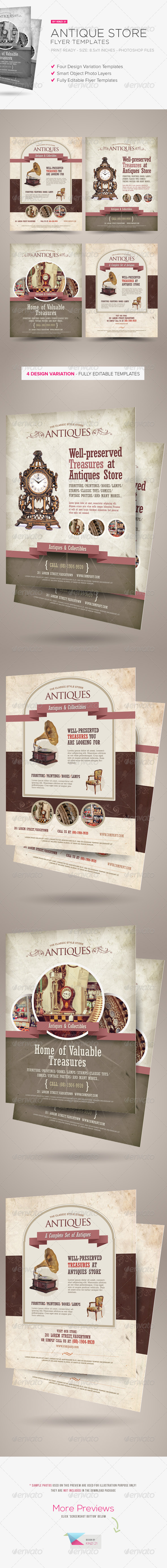 Antique Store Flyer Templates - Corporate Flyers