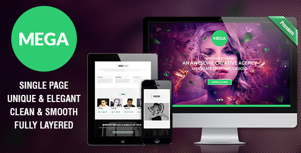 MEGA – Single Page Premium Theme