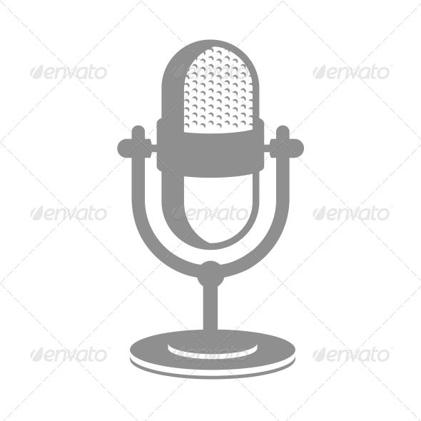 Retro Microphone Icon - Media Technology
