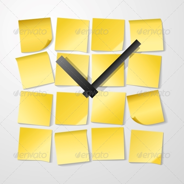 Paper Clock Design with Stickers - Concepts Business