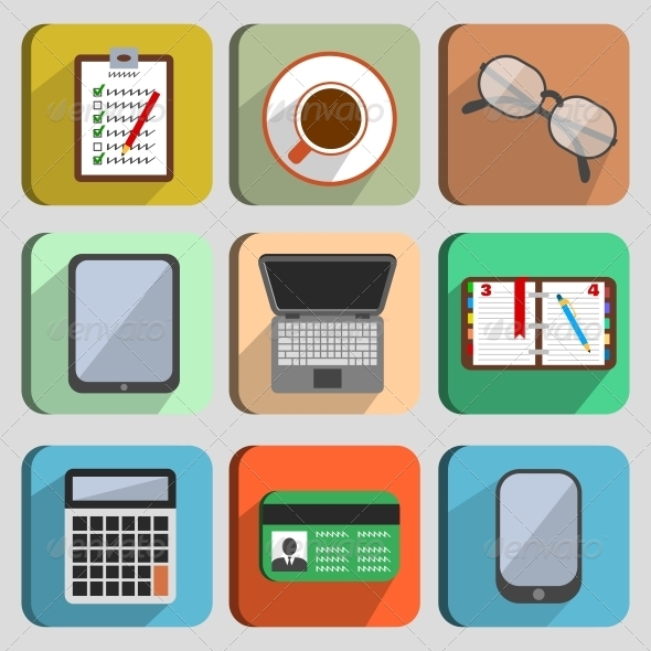 Business Set Workplace Elements - Concepts Business