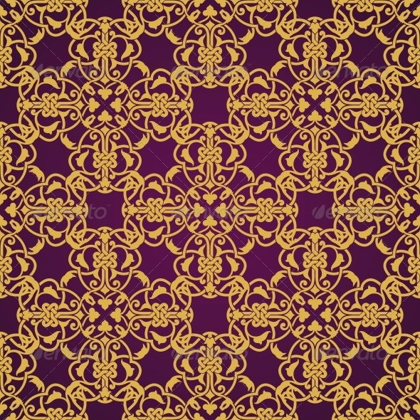 Seamless Yellow and Violet Pattern - Backgrounds Decorative