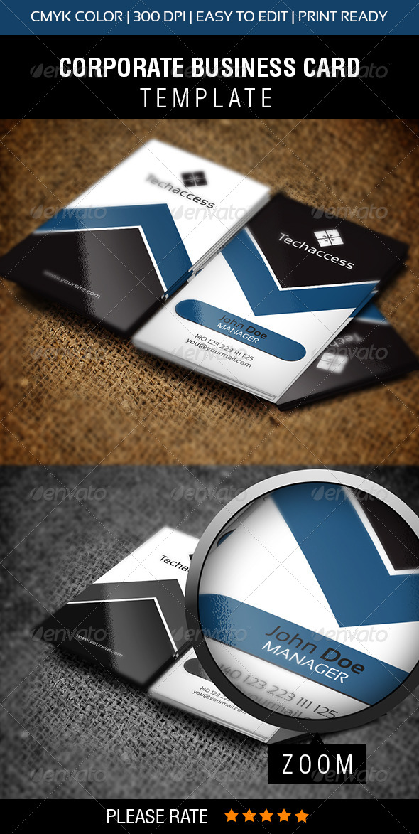 Techaccess Business Card  - Corporate Business Cards