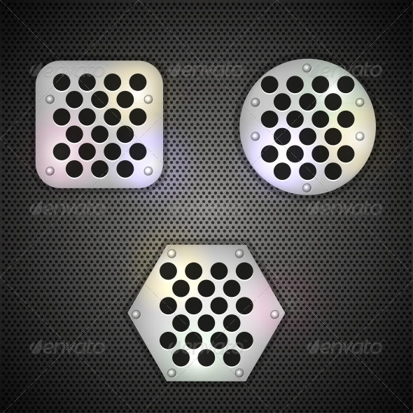 Metal Grid Background - Buildings Objects