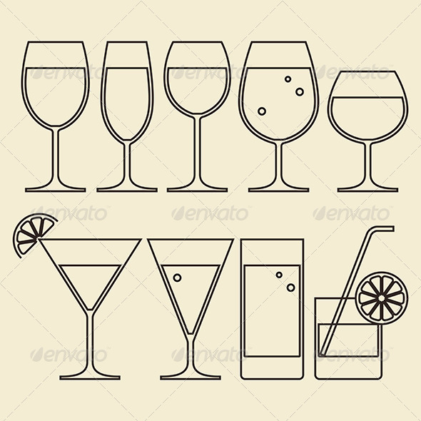 Illustration of Alcohol - Services Commercial / Shopping
