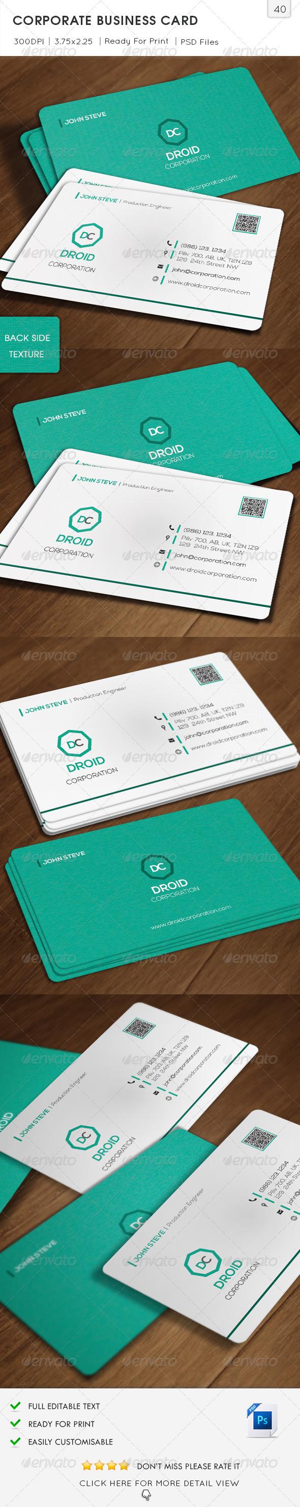 Corporate Business Card v40 - Corporate Business Cards