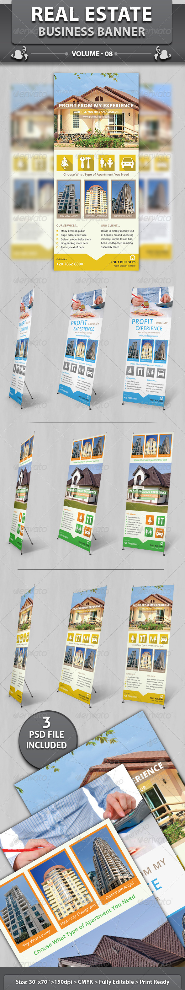 Real Estate Business Banner | Volume 8 - Signage Print Templates