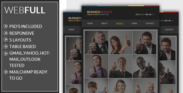 Responsive - Business Email Template - Email Templates Marketing