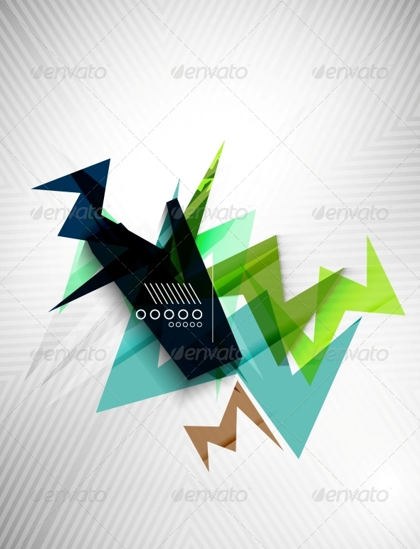 Geometric Lightning Business Background - Backgrounds Decorative