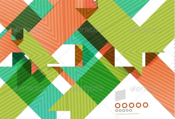 Colorful Geometrical Shapes Abstract Lines - Web Technology