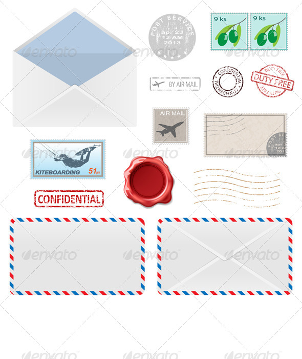 Postal Business Icons - Business Conceptual