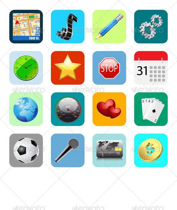 Internet Web Icons - Business Conceptual