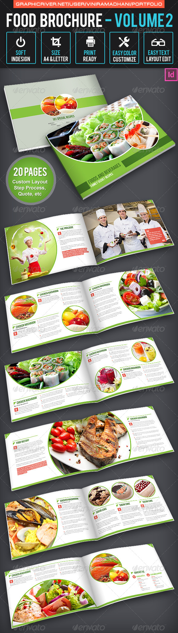 Food Brochure | Volume 2 - Portfolio Brochures