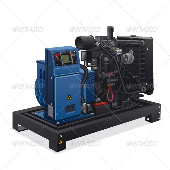 Diesel Generator - Vectors