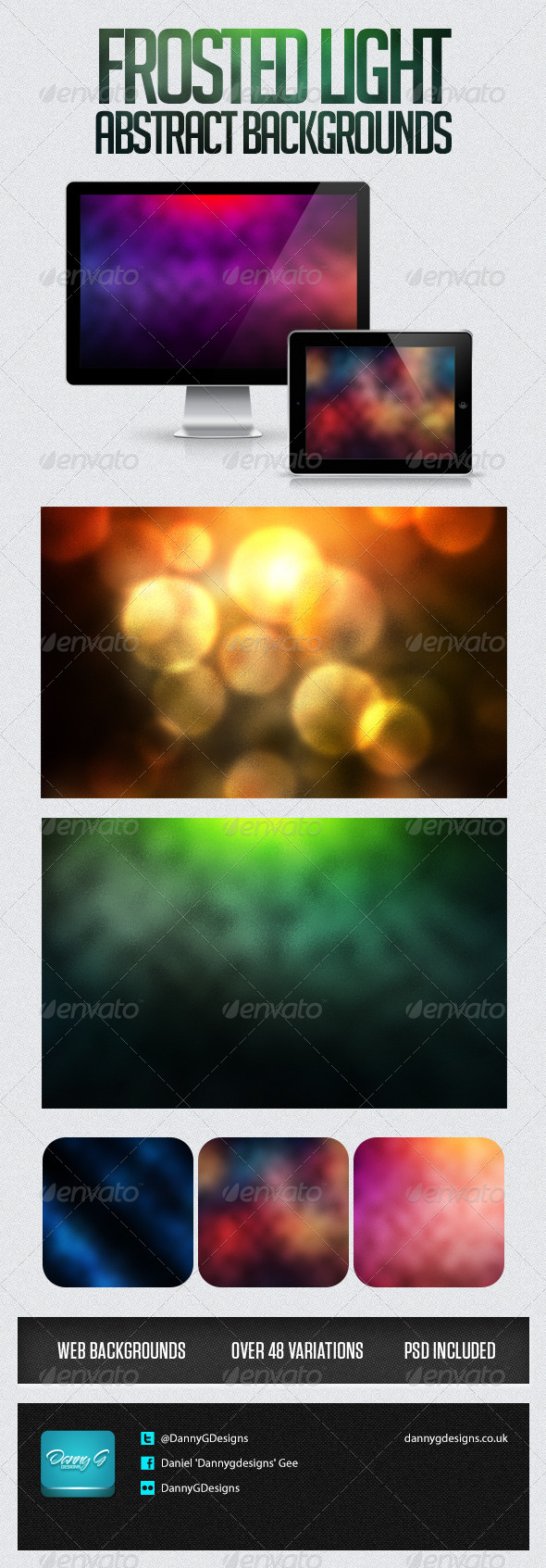 Frosted Light Abstract Background - Abstract Backgrounds