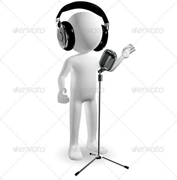 Man in Headphones - Characters 3D Renders