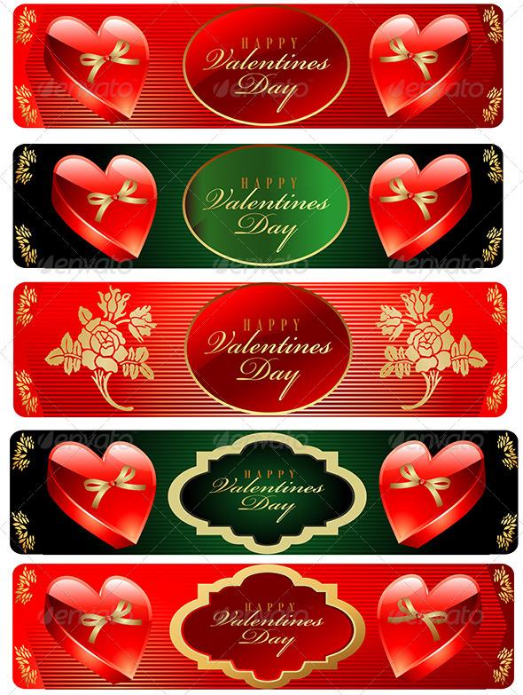 Valentine's Day Banner Set - Valentines Seasons/Holidays
