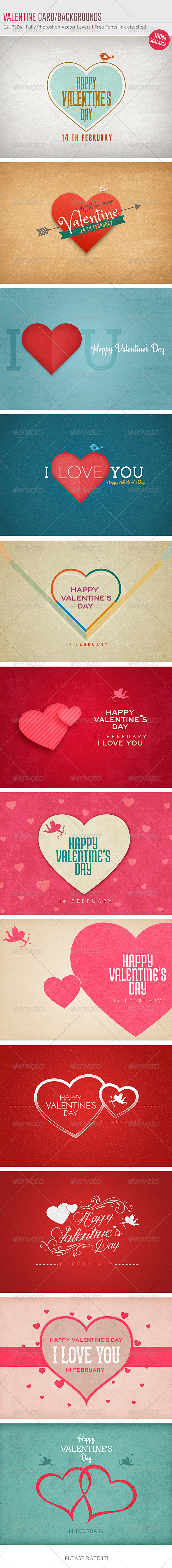 Valentine Card/Backgrounds - Backgrounds Graphics